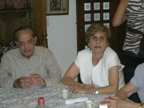 Com o marido querido,  Paulo Sizenando, que também era médico