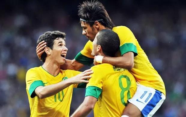 A alegria incontida depois de marcar um belo gol