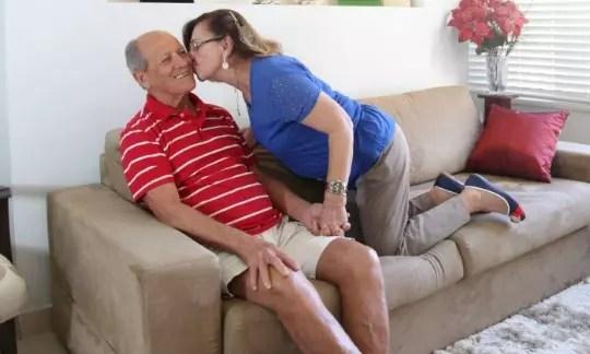 Selene e Walmir: casal que também começou a namorar na velhice