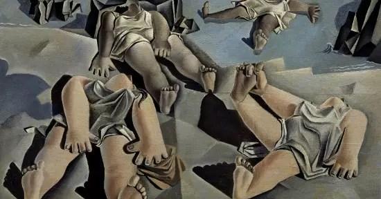 Figuras tombadas na areia, de 1926, está incluído na mostra