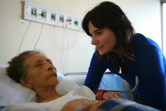 A autora com a paciente