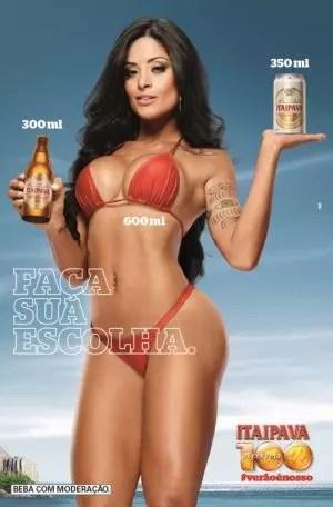 Abuso: peça publicitária da campanha 'Verão' da Itaipava