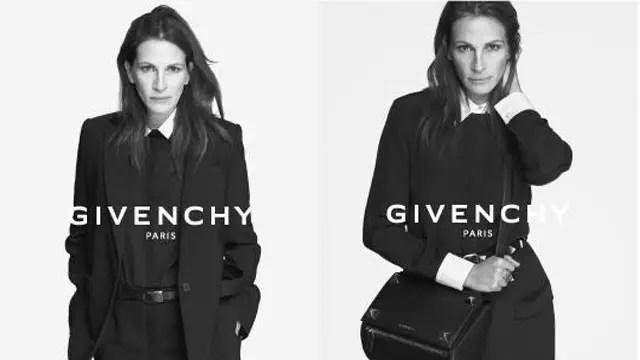 Julia Roberts, 47, garota propaganda da grife francesa Givenchy