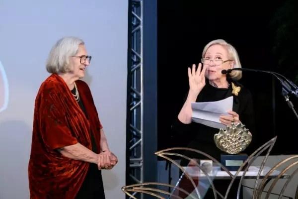 Com a grande amiga, Fernanda Montenegro
