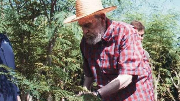 Fidel Castro e a 'árvore milagrosa', que teria ajudado a manter o líder cubano vivo.  Foto: ReutersImage