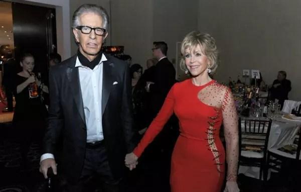 A atriz com o namorado, Richard Perry, em foto de janeiro do ano passado