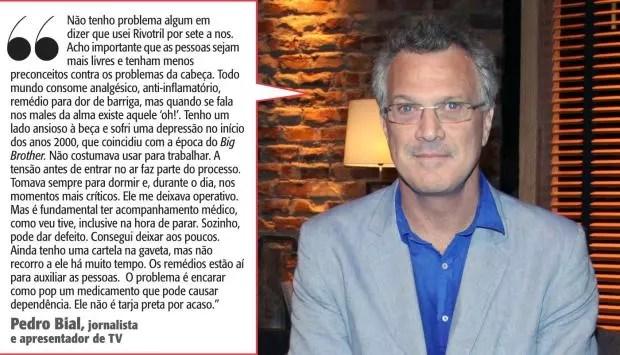 O jornalista e apresentador Pedro Bial fazendo uma confissão corajosa