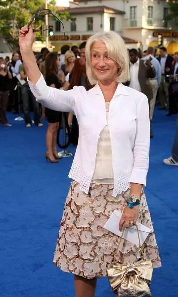 A atriz Helen Mirren, 70