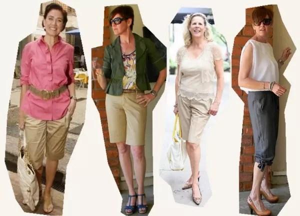 Aqui estão quatro modelos, de diferentes cores e tecidos