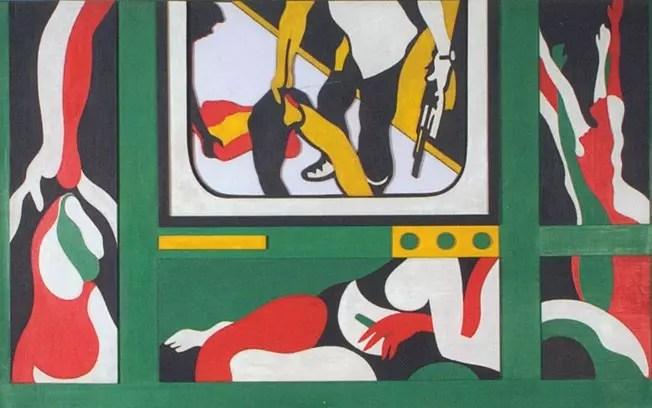 Uma das obras da artista mostradas na Tate Modern, em Londres