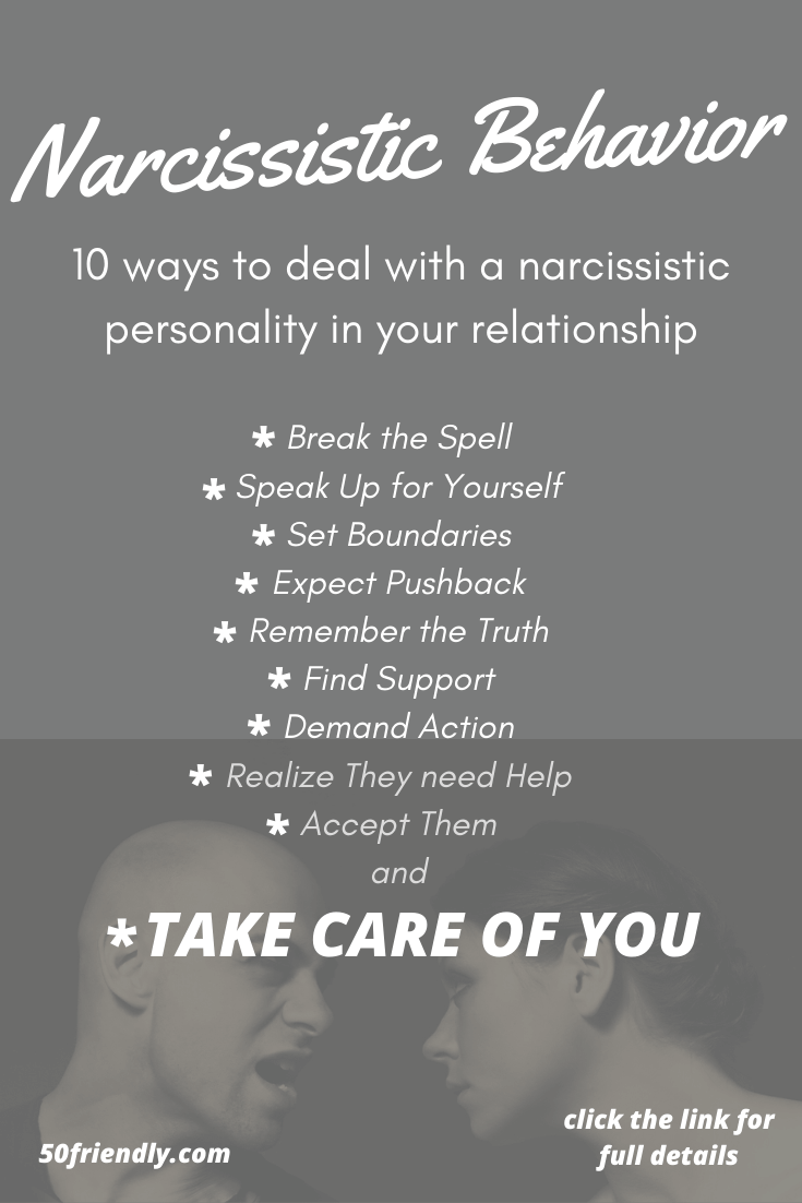 10 Tips On How To Deal With A Narcissist - 50 Friendly