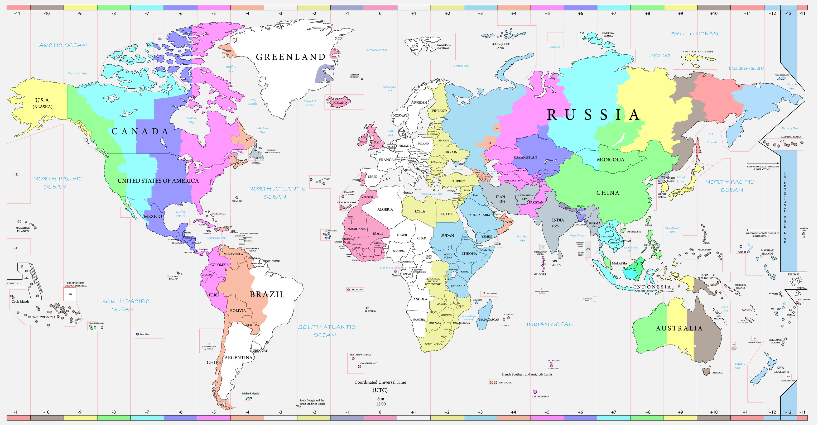 Find Time Zone And Current Time Around The World