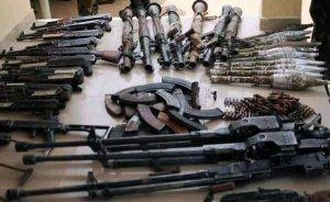 See Large Cache of Weapons Hidden Inside a Tipper Loaded with Sand in Kaduna cache of weapons - 1626282552093 1 300x184 - See Large Cache of Weapons Hidden Inside a Tipper Loaded with Sand in Kaduna