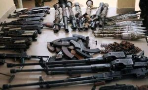 See Large Cache of Weapons Hidden Inside a Tipper Loaded with Sand in Kaduna cache of weapons - 1626282552093 300x184 - See Large Cache of Weapons Hidden Inside a Tipper Loaded with Sand in Kaduna