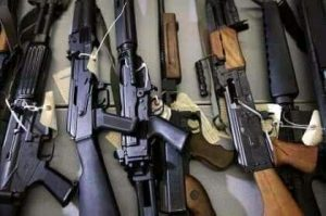 cache of weapons - 1626282553719 300x199 - See Large Cache of Weapons Hidden Inside a Tipper Loaded with Sand in Kaduna