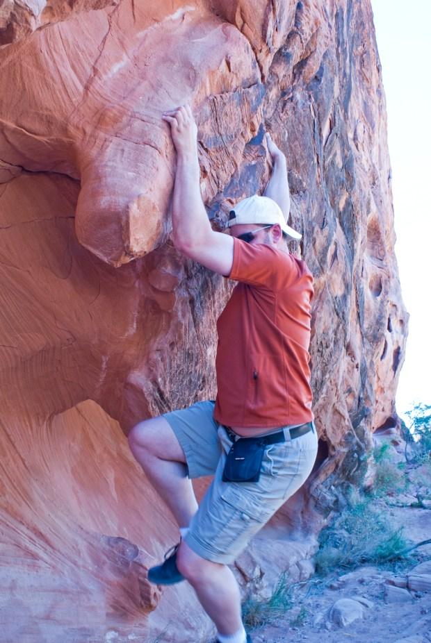 Allen climbing