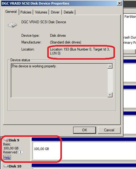 Windows disk information