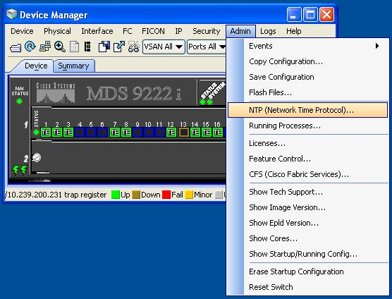 Cisco Device Manager NTP