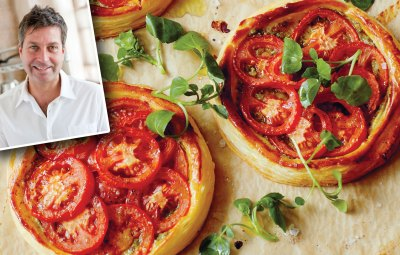 tomato and pesto tarts john torode