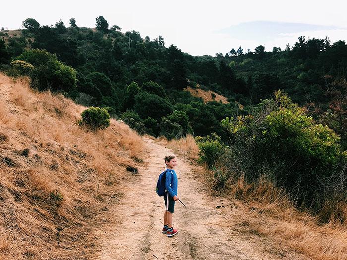 boy hiking miller knox