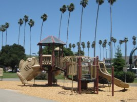 Play structure in Washington Park, Alameda