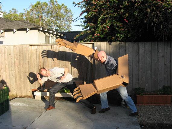 Giant cardboard robot arm making kit