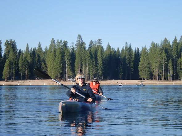 Canoeing at lair of the bear