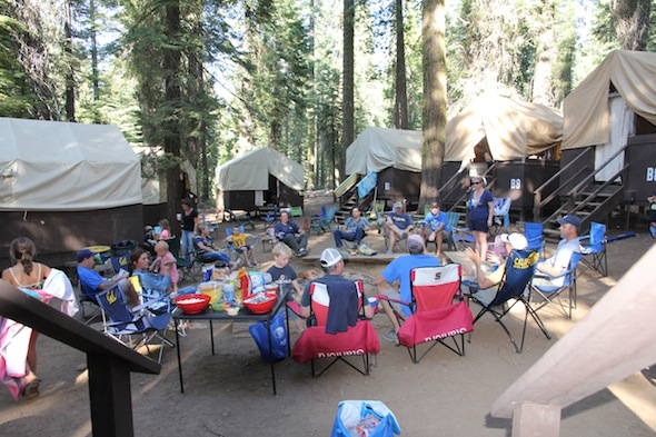 Lair of the Bear family camp at Oski