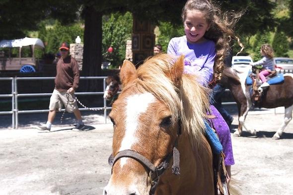 Pony ride at Lemos Farm