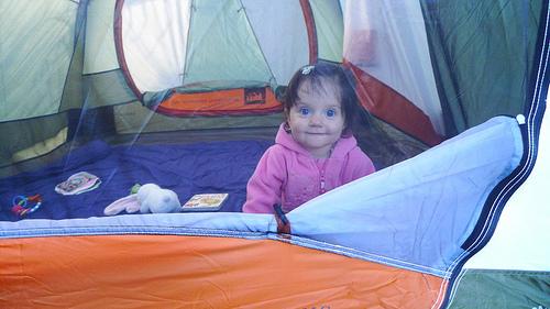 Happy little camper in Mt Diablo state park