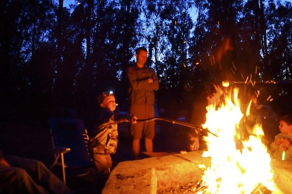 Group camping at Tilden Park includes s'mores