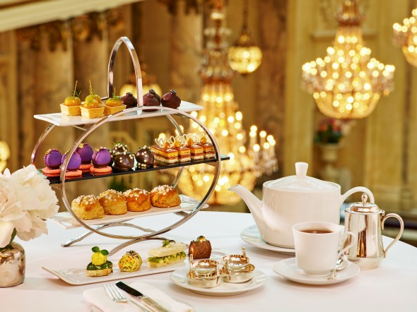 Palace Hotel High Tea Service at the Garden Court in San Francisco