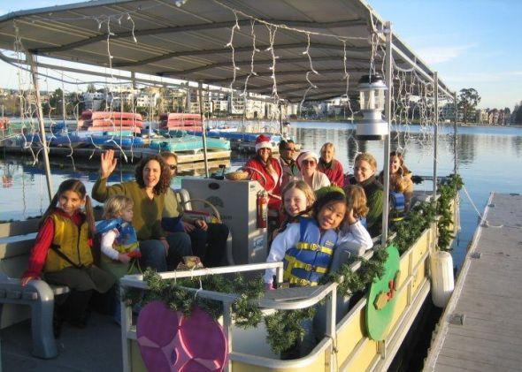 Lake Merritt Holiday Boat