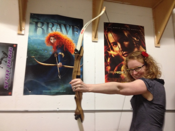 Fat Shafts Archery, bringing out my inner Katniss