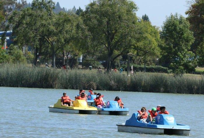 Fremont's Central Park has boating for kids on Lake Elizabeth