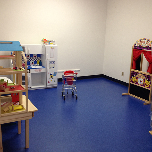 Tools for imaginary play at Kids Gym Berkeley