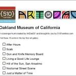 Scavenger hunt for kids visiting Oakland Museum