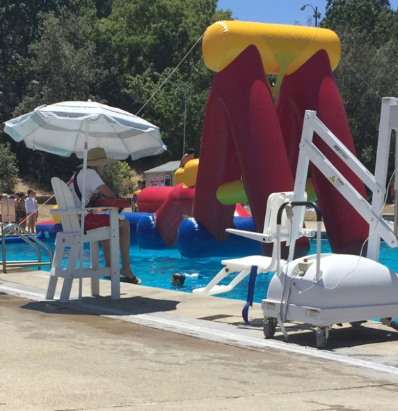 East Bay Swimming Pool with Obstacle Course