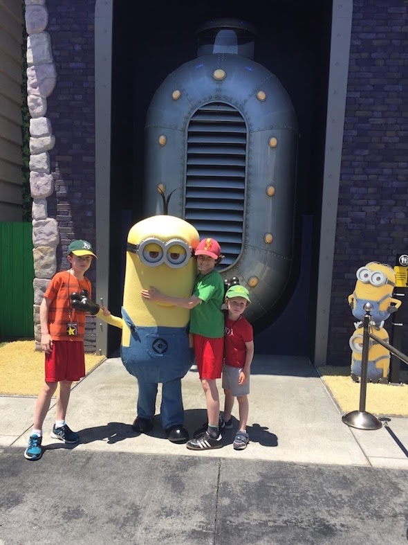 Minions outside of Despicable Me attraction at Universal Hollywood