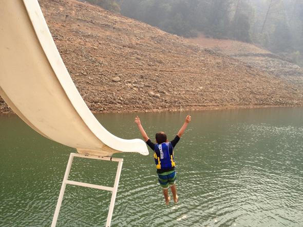 sliding into shasta lake