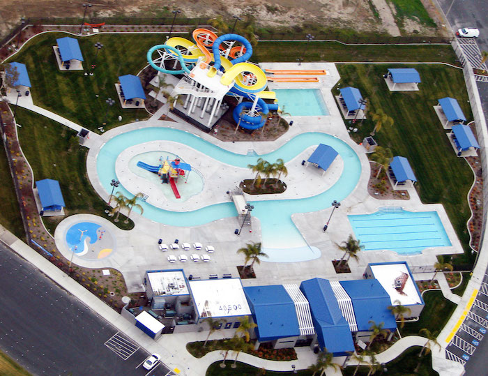 Aerial view of the Aqua Adventure Water Park in Fremont