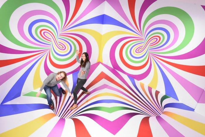 Magical photo backdrops at Candytopia SF