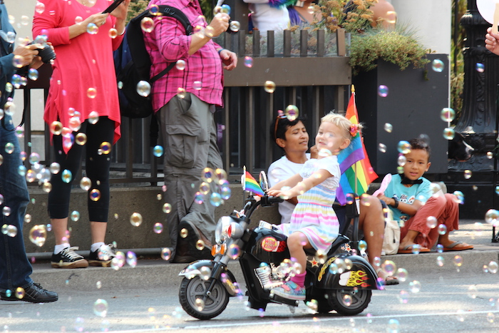 Tykes on Trikes at Oakland Pride