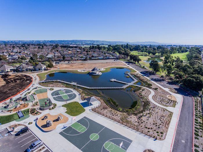 San Lorenzo Community Park   Overhead view provided by Hayward Rec