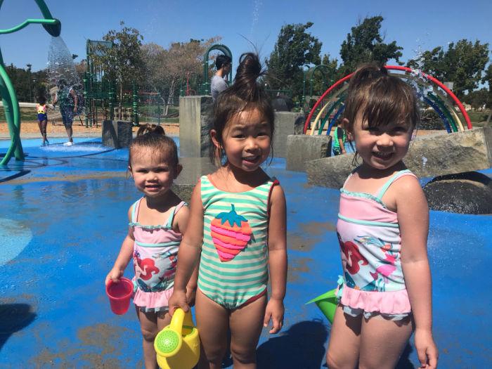 3 girls at Emerald Glen Splash