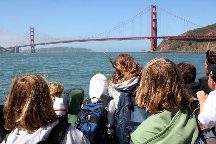 kids going to Angel island
