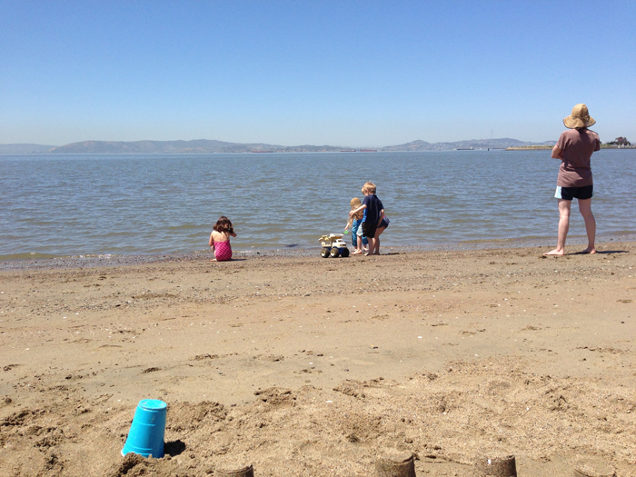 crown beach with kids