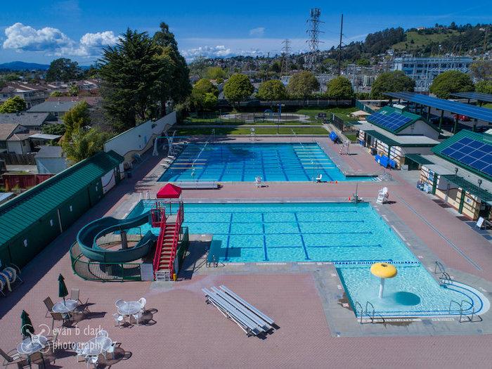 The El Cerrito Swim Center from overhead