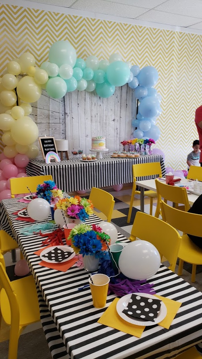 Birthday party set up at Play Date