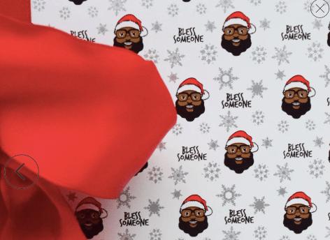 baron davis black santa wrapping paper